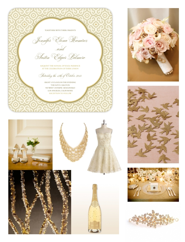 Gold-Wedding-Always-and-Forever