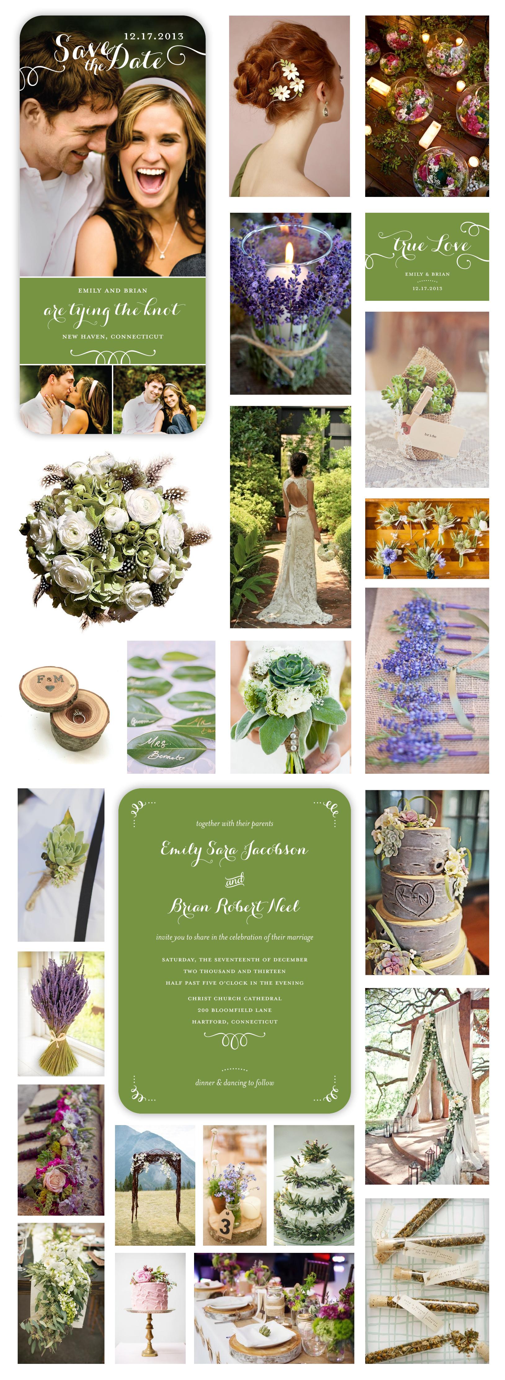 Purple Bohemian Wedding Head Over Heels Green Crop