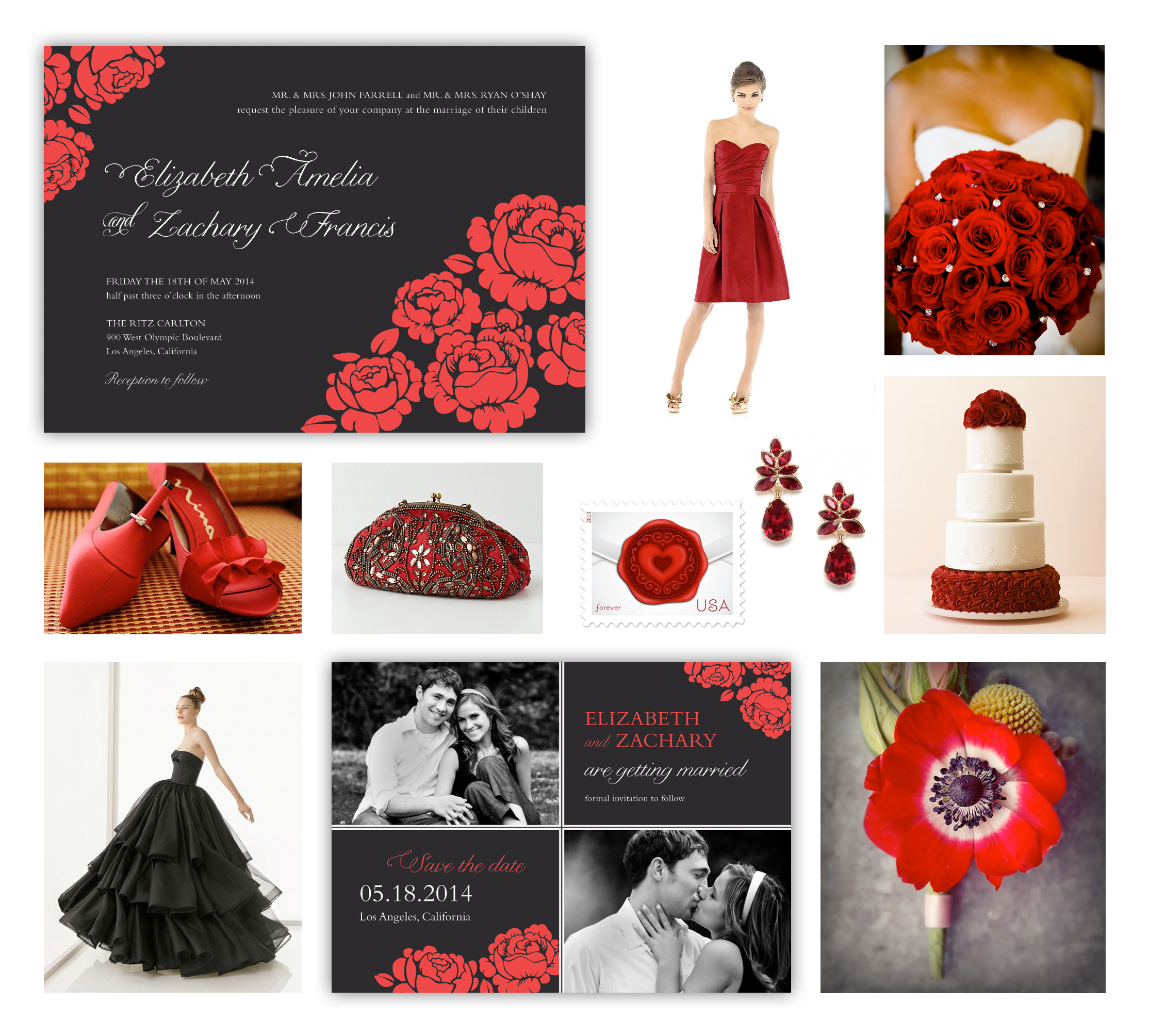 Red Black Wedding Design Loves Weddings