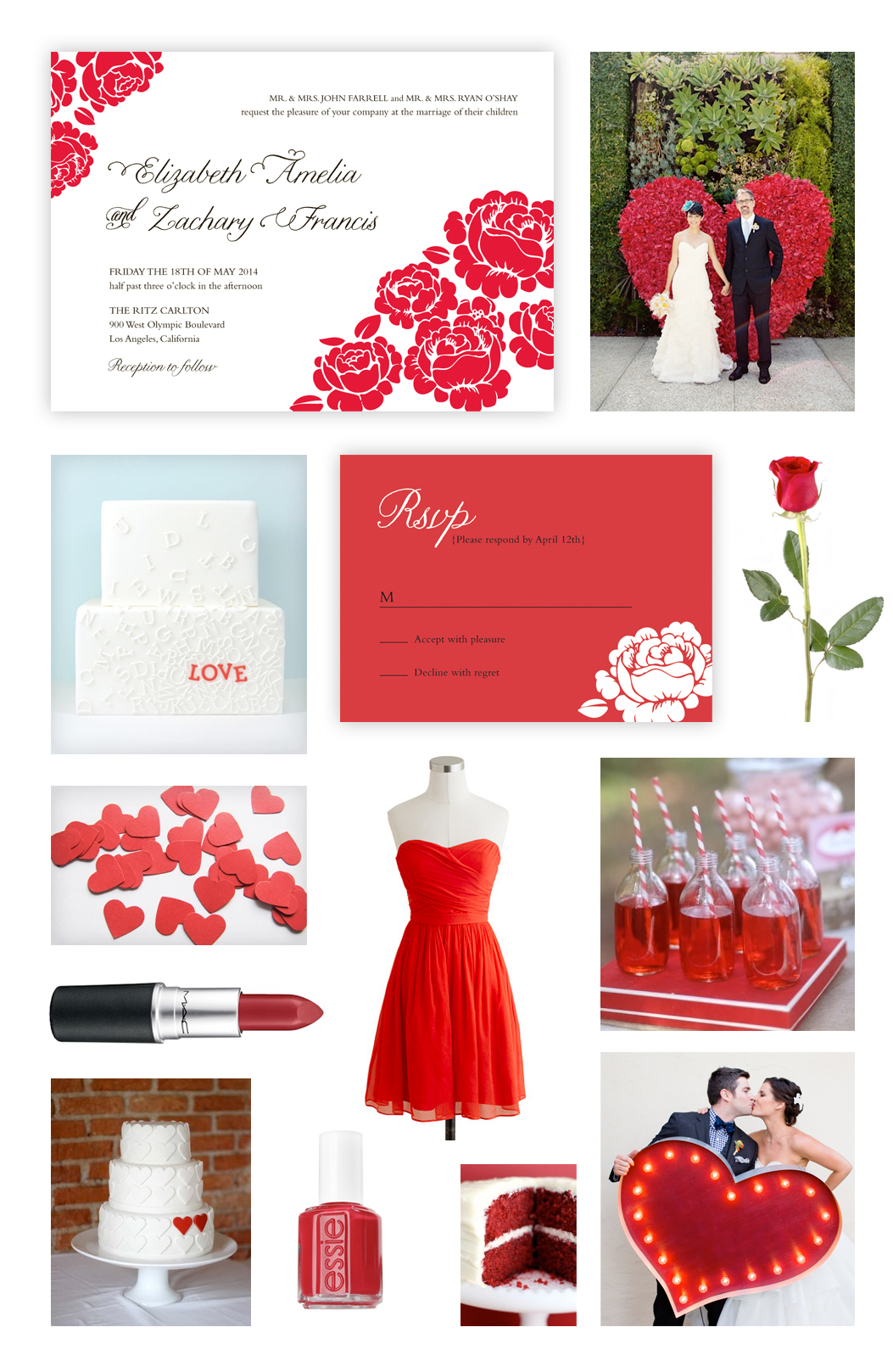 Red Rose Wedding Theme | Design Loves Weddings