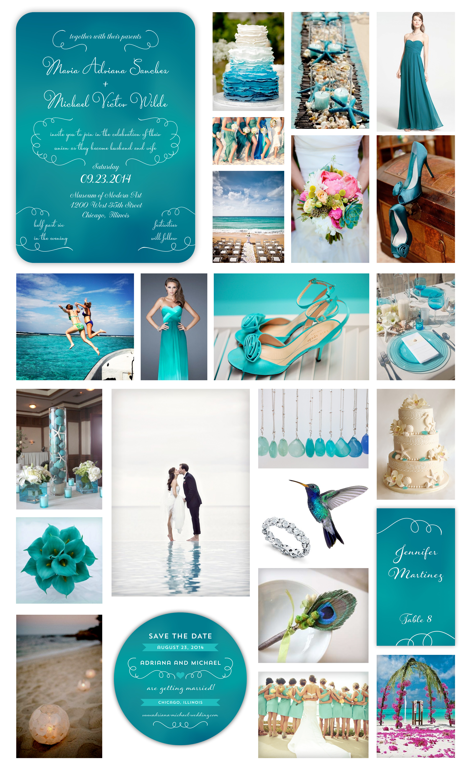 Aquamarine Wedding | Design Loves Weddings